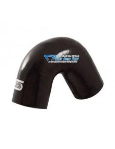 Durite Coude 135° silicone renforcé Noir Diamètre 25mm