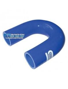 Durite Coude 180° silicone renforcé Bleu Diamètre 19mm