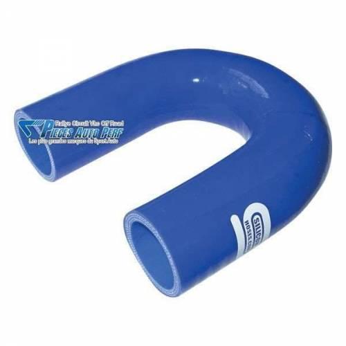Durite Coude 180° silicone renforcé Bleu Diamètre 32mm