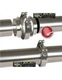 Bride de jonction Inox double T Diamètre 70mm