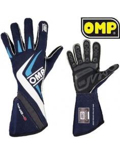 Gants Pilote FIA OMP One S Bleu marine