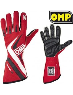 Gants Pilote FIA OMP One S 2016 Rouge