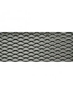 Grille alu mailles exagonales 100x33cm Noir