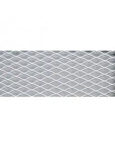 Grille alu mailles exagonales 125x30cm Argent