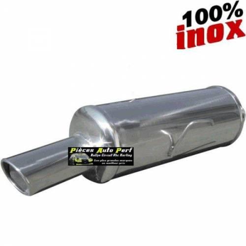 Silencieux échappement arrière Inox 1 sortie X-Race Diamètre 90mm PEUGEOT 206 1l4 16v