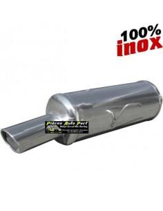 Silencieux échappement arrière Inox 1 sortie X-Race Diamètre 90mm PEUGEOT 206 GT WRC