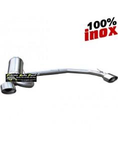 Silencieux échappement arrière Duplex Inox 2x1 sortie Ovale Diamètre 120x80mm PEUGEOT 406 1l8 101cv