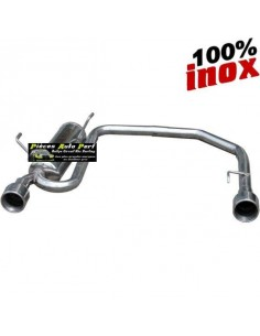 Silencieux échappement arrière Duplex Inox 2x1 sortie Ronde Diamètre 102mm PEUGEOT 406 1l8 110cv