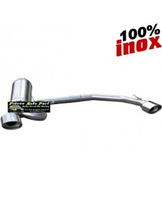 Silencieux échappement arrière Duplex Inox 2x1 sortie Ovale Diamètre 120x80mm PEUGEOT 406 1l8 110cv