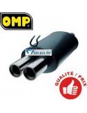 Silencieux Acier double sortie Ronde Diamètre 63mm Vw Golf 3 GTi 8s