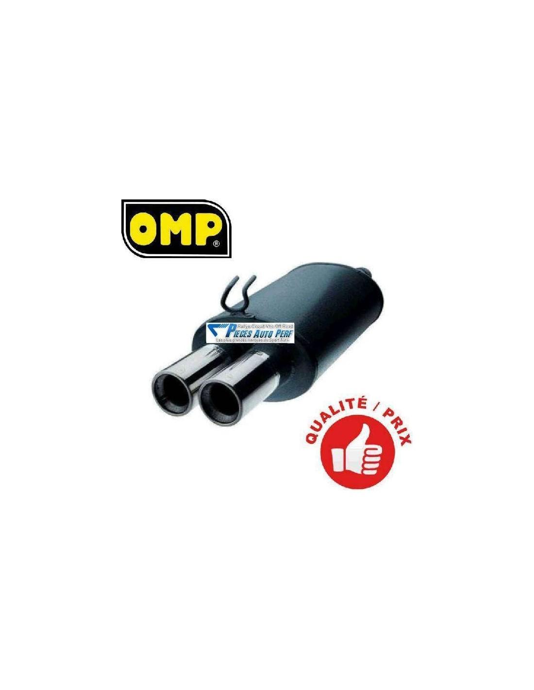 Silencieux Sportif 2 Sorties Rondes Diametre 63mm Pour Vw Golf 3 Gti 8s