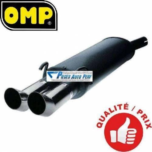 Silencieux Acier double sortie DTM Diamètre 76mmmm Vw Golf 3 GTi 16s