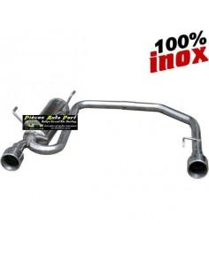 Silencieux échappement Duplex Inox 2x1 sortie Ronde 102mm Citroen C2 1l6 16v VTS