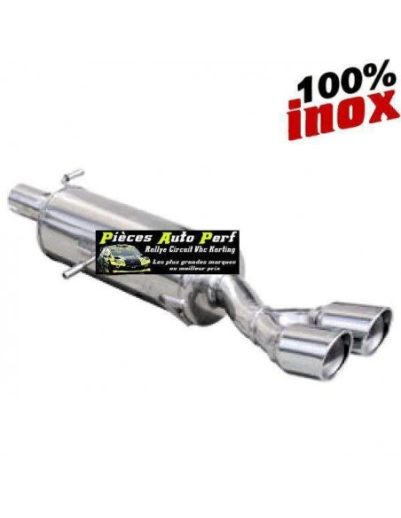 Silencieux échappement Inox 2 sorties X-Race 80mm Citroen DS3 1l6 16v Turbo