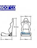 Siège sportif réglable Spécial 4x4 SPARCO Expédition Simili-cuir Noir