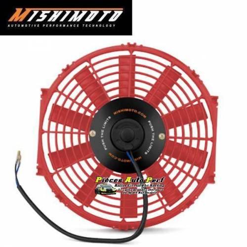 Ventilateur compétition Rouge Réversible MISHIMOTO Diamètre 285mm Débit 1150m3/heure