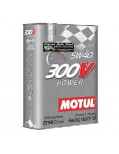 Huile moteur MOTUL 300V Power 5w40 Bidon 2 Litres