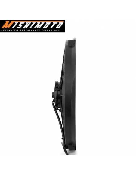 Ventilateur compétition Noir Réversible MISHIMOTO Diamètre 356mm Débit 1300m3/heure