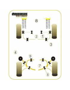 2 Silentblocs renforcés Black pour Bras extérieur avant Ford Escort Cosworth
