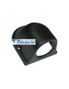Support tableau de bord PVC Noir pour 1 Mano diamètre 52mm