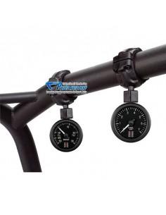 Support sur arceau PVC Noir pour 1 Mano diamètre 52mm