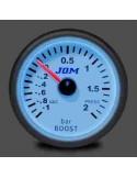 MANOMETRE PRESSION DE TURBO JOM Diamètre 52mm -1/+2 Bars