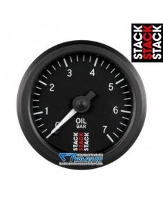 Manomètre pression d'Huile STACK Diamètre 52mm 0/7 Bars fond Noir
