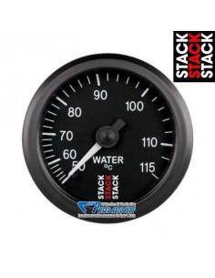 Manomètre température d'eau STACK Diamètre 52mm 50/115° fond Noir