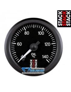 Manomètre température d'Huile STACK PRO Diamètre 52mm 60/140° fond Noir