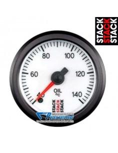 Manomètre température d'Huile STACK PRO Diamètre 52mm 60/140° fond Blanc