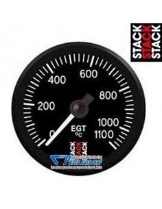 Manomètre température gaz d'échappement STACK PRO Diamètre 52mm 0/1100° fond Noir
