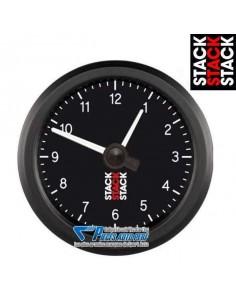 Manomètre Horloge analogique STACK PRO Diamètre 52mm fond Noir