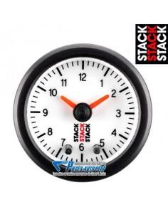 Manomètre Horloge analogique STACK PRO Diamètre 52mm fond Blanc