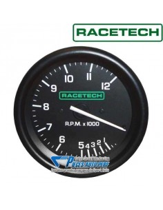 Compte-tours RACETECH Diamètre 80mm 0/12000 RPM sans shift-light