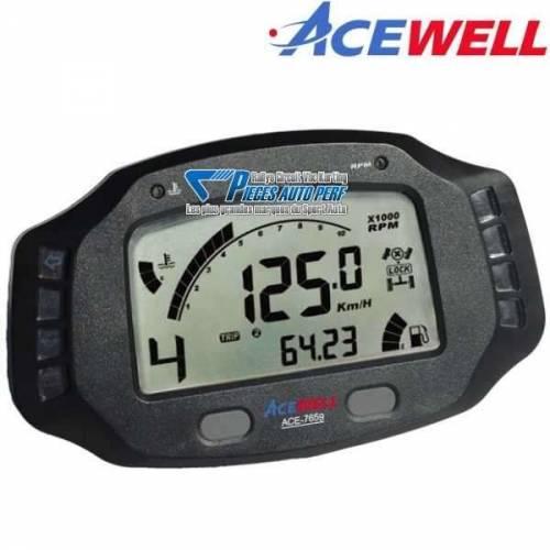 Tableau de bord Digital ACEWELL ACE-7859 avec temps au tour