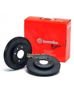 2 Disques de freins Avant BREMBO Max rainurés Traités 284x22mm Fiat 500 1l4 16v Abarth