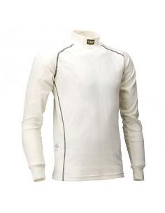 T-shirt FIA manches longues OMP Classic-S Nomex Blanc