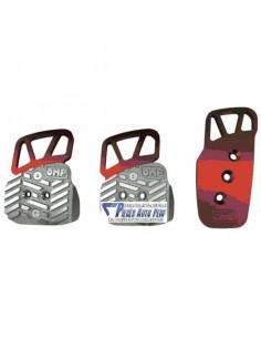 Pédalier réglable aluminium OMP Style Rouge