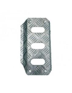 Reose pieds pilote OMP en aluminium gauffré