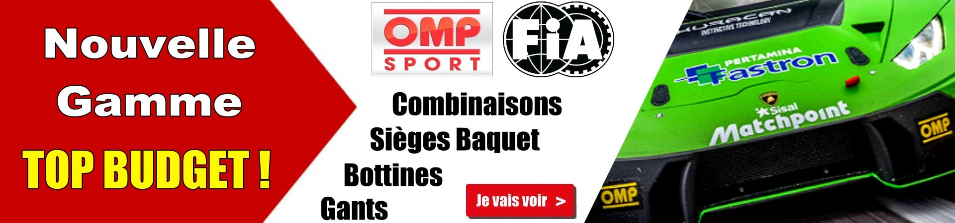 Nouvelle gamme TOP BUDGET OMP SPORT