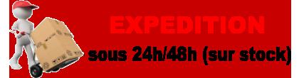 expédition 24/48h sur stock