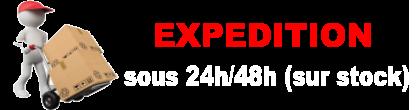 expédition sous 24/48h sur stock